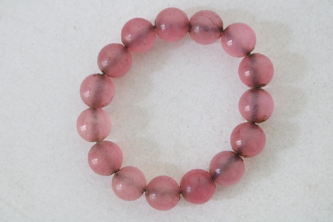 Pink Stone Beaded Bracelet