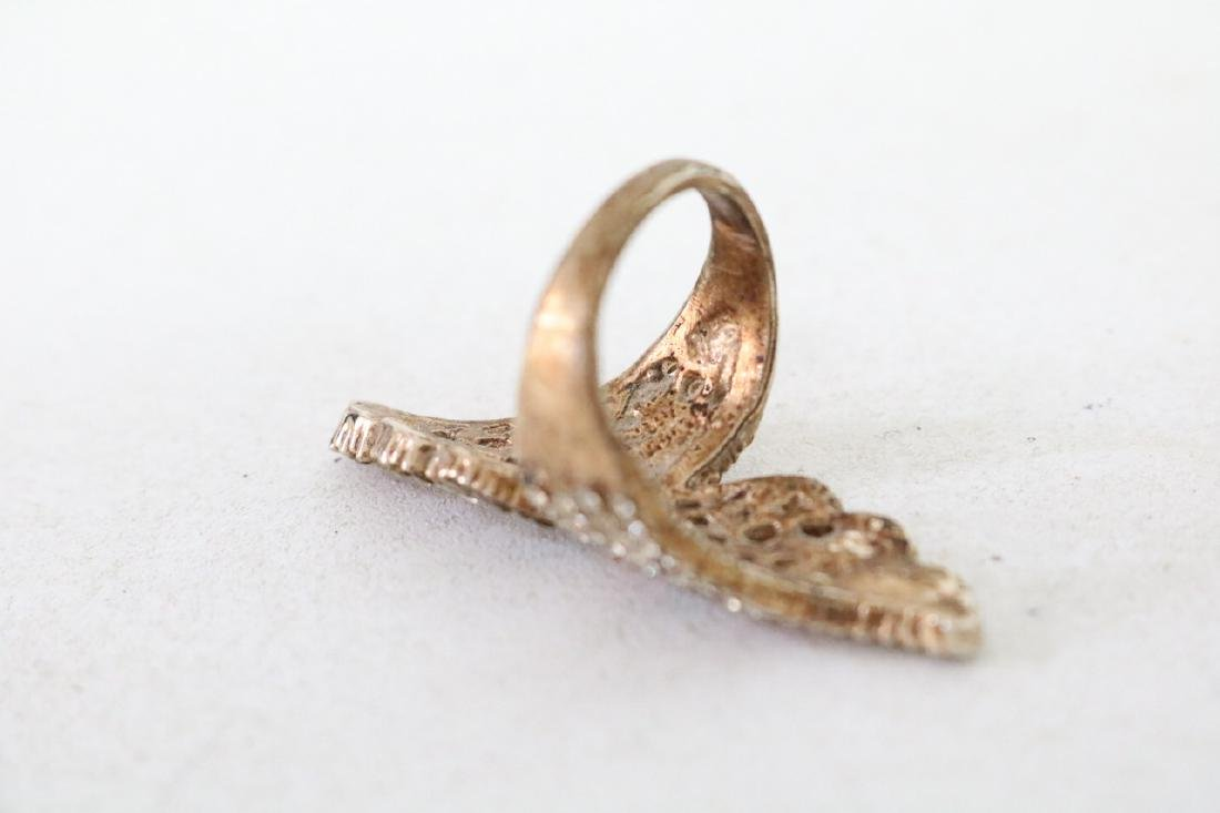 Colored Rhinestone and Gold Ring - 2