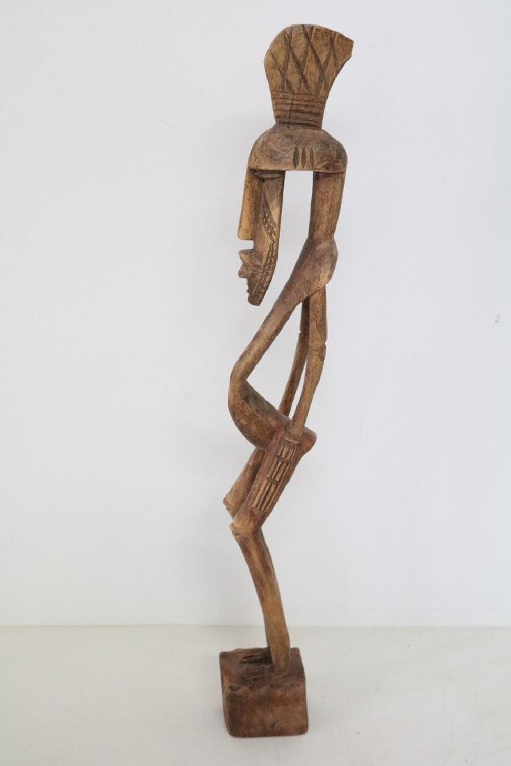 Carved Afracan Tribal Statue - 3