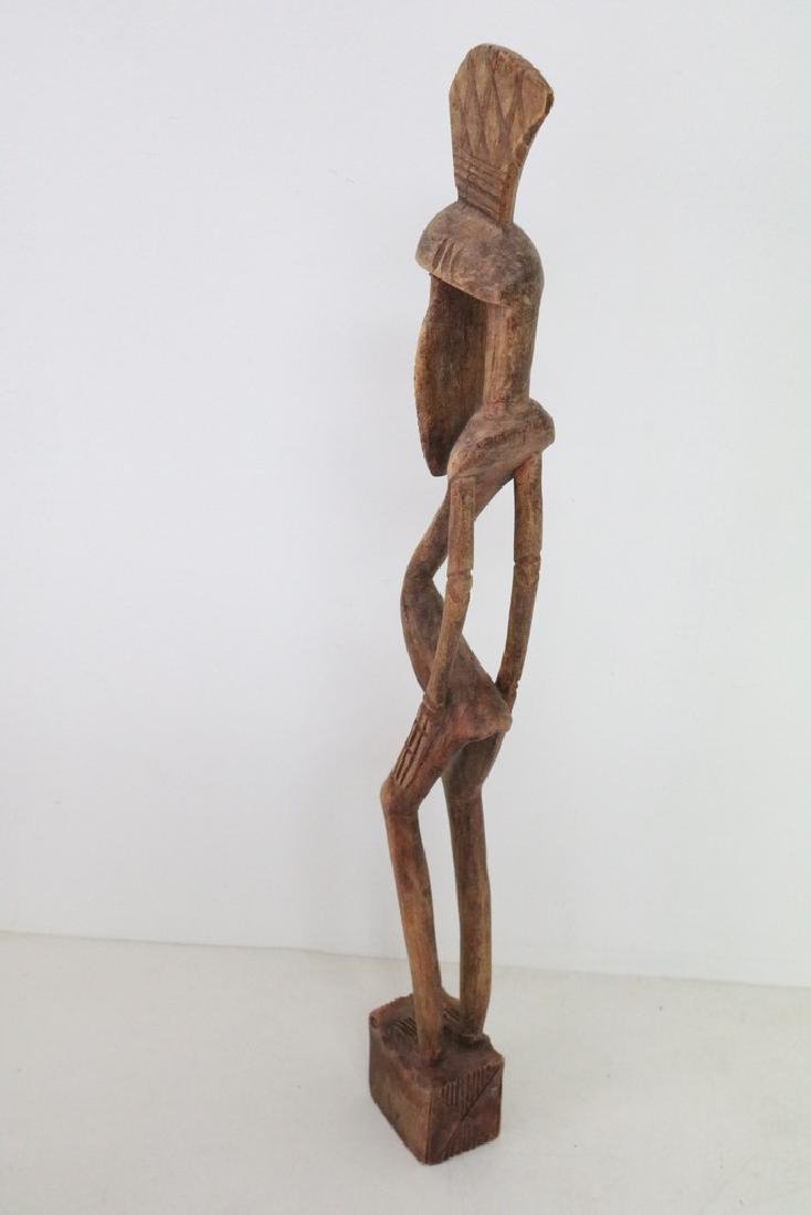 Carved Afracan Tribal Statue - 4