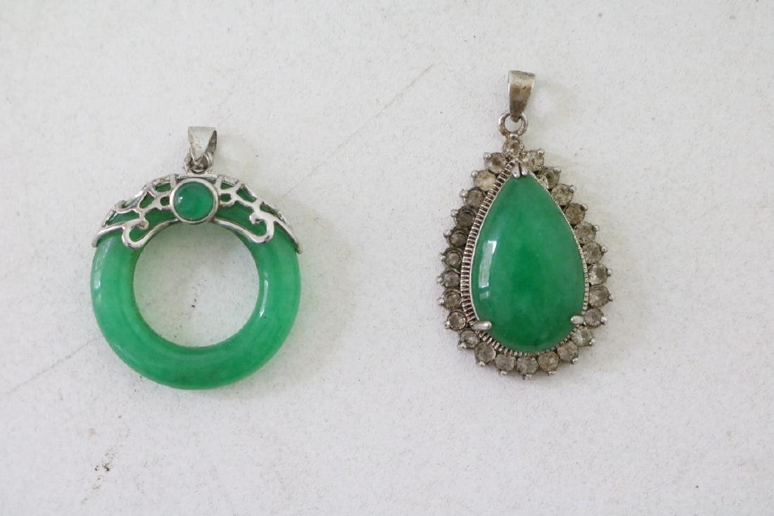 Pair of Green stone Pendants
