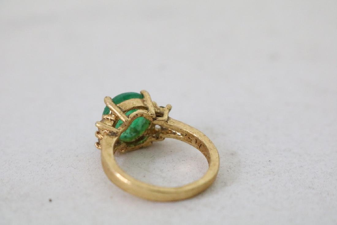 4 Gold and silver Jade Rings - 5