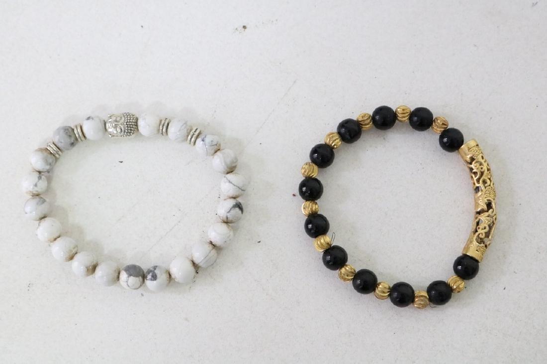 2 Vintage Asian Beaded Bracelets