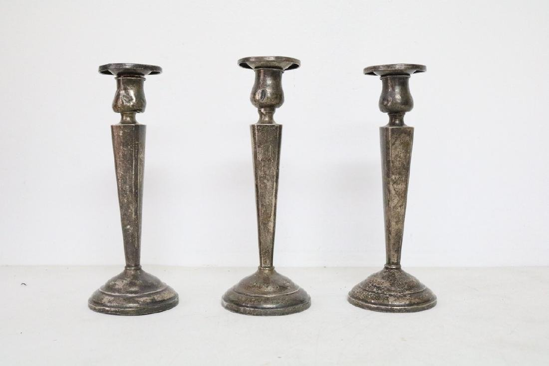 Set of weighted Sterling silver Candlesticks