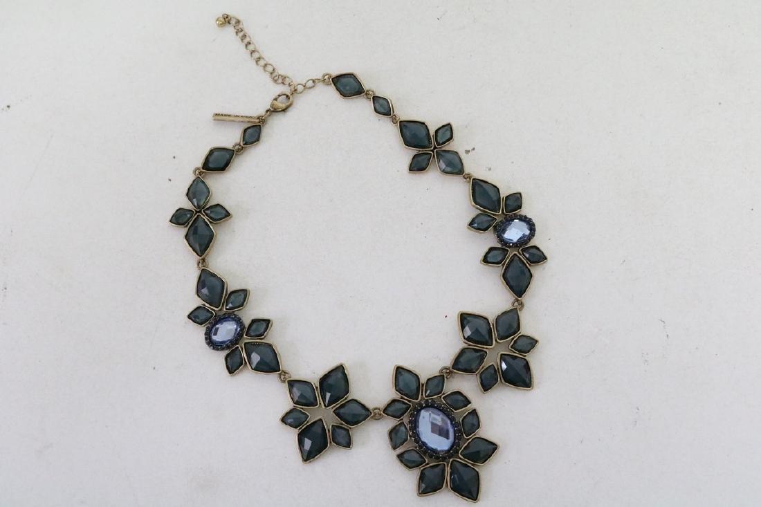 Oscar De La Renta Saphire jeweled Mogul Necklace