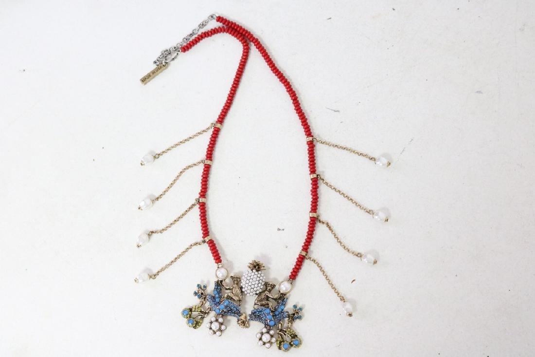Oscar De La Renta Saphire Jungle Fantasy  Necklace