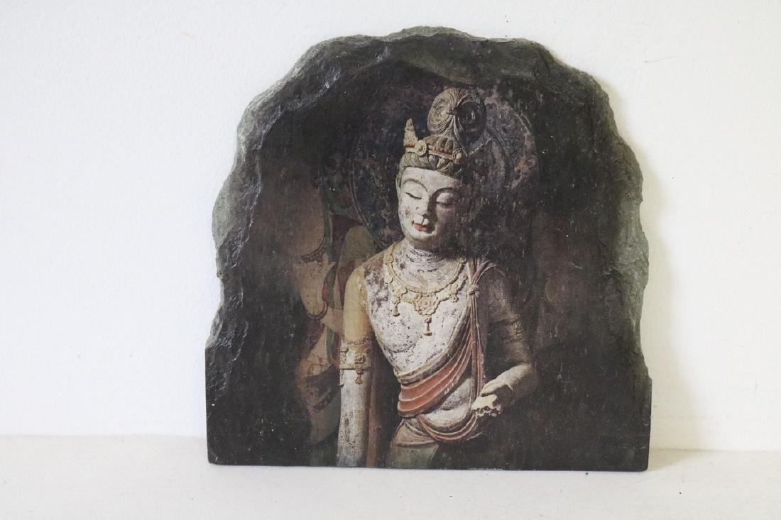 Buddist Painting on Rock