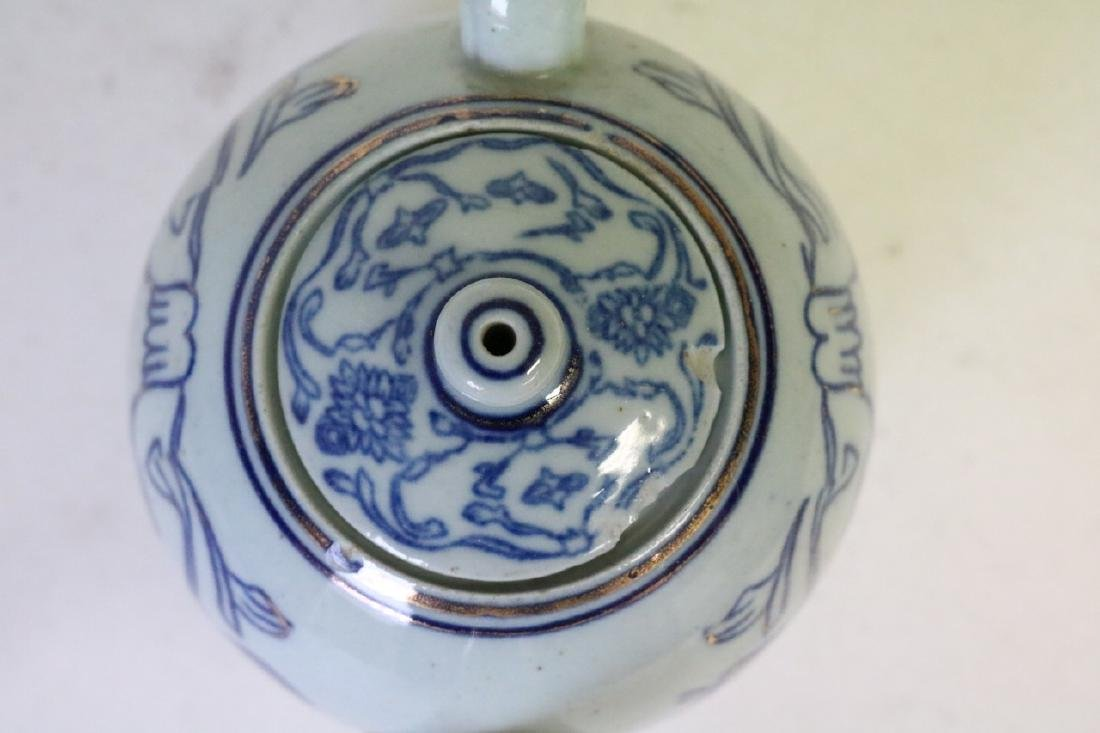 Oriental Blue and Gold Teapot - 3