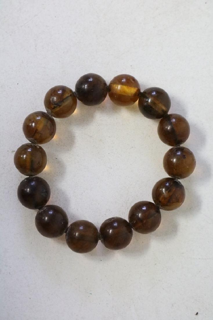 Amber Colored Beaded Bracelet