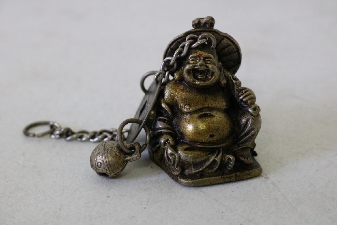Carved Brass Buddha Pendant with Bells