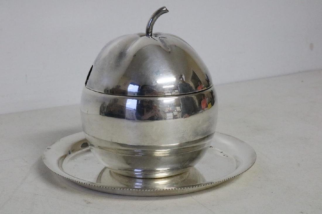 Sheffield Silverplate Marmalade Carved Jar and
