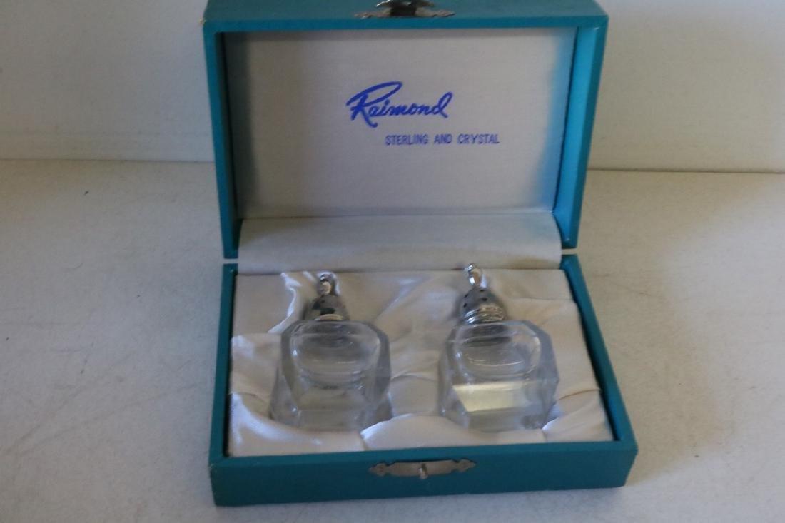 Raimond Sterling Silver & Crystal Salt & Pepper Shakers