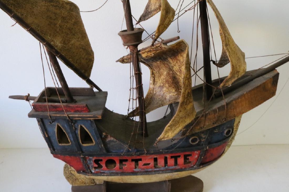 Antique Pirate Ship Model, Soft-Lite - 2