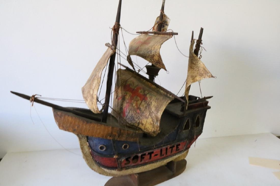 Antique Pirate Ship Model, Soft-Lite - 4