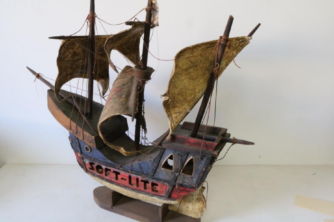 Antique Pirate Ship Model, Soft-Lite - 5