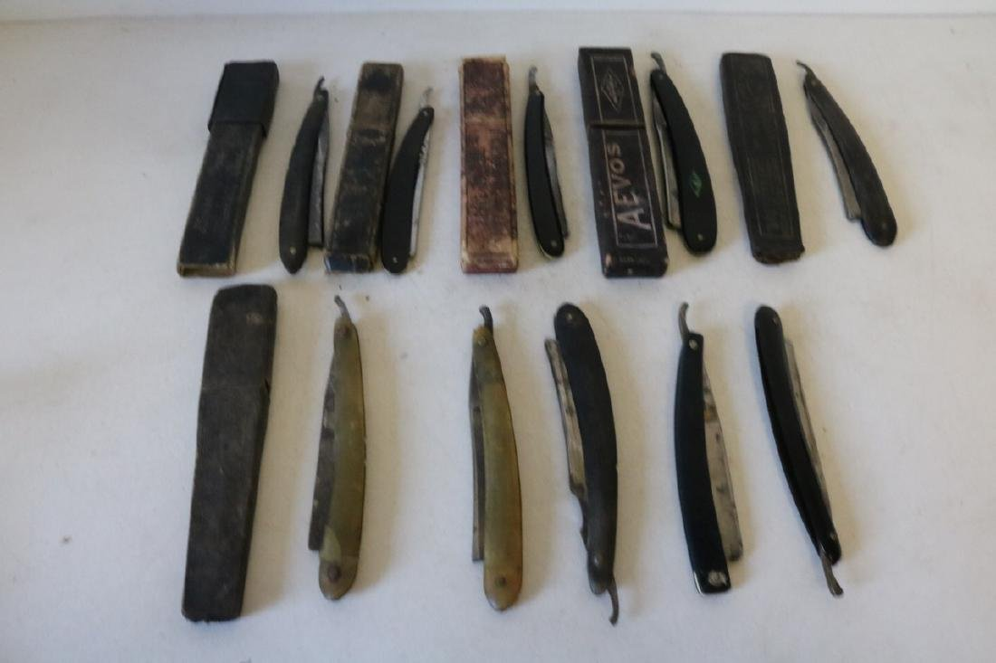 Lot of 16 Antique Straight Edge Razors