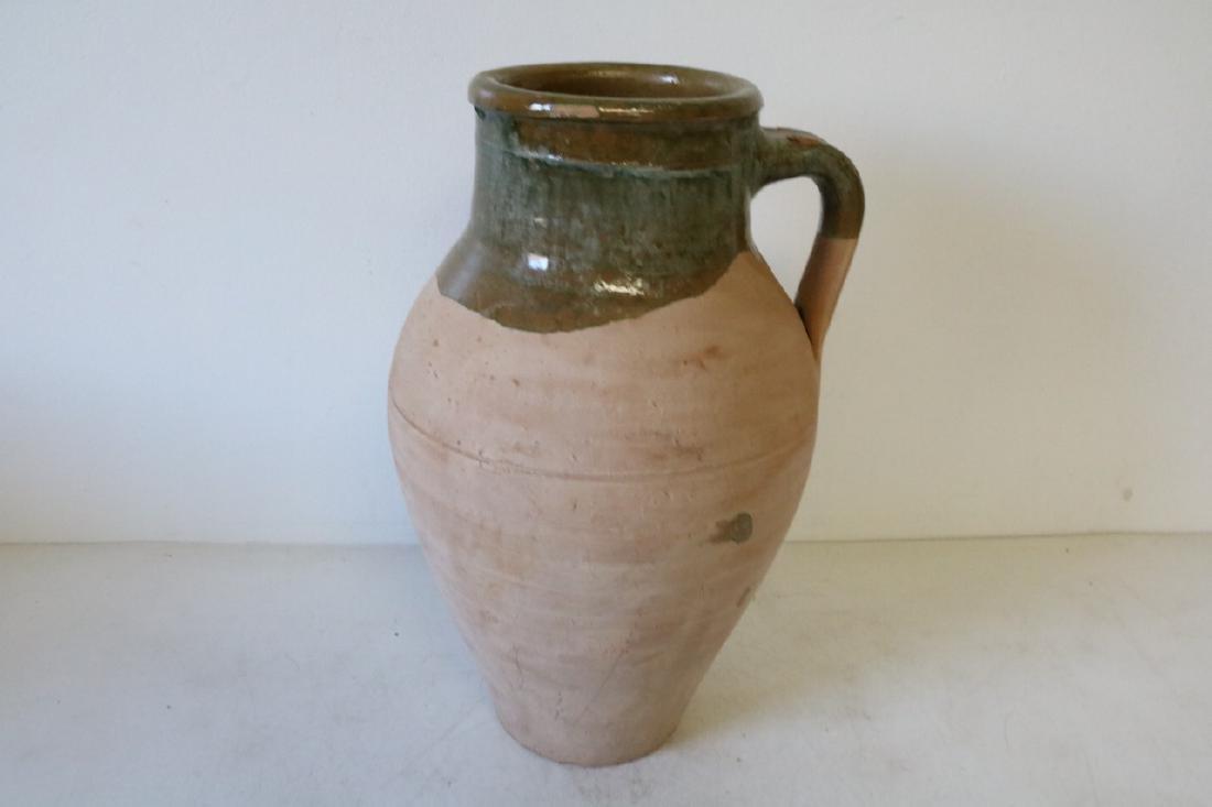 Rare Antique Drip Glaze Pottery Pitcher