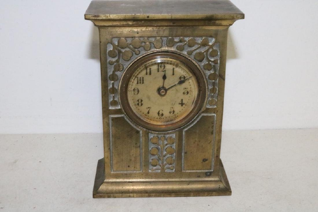 Antique Ansonia Brass Case Clock