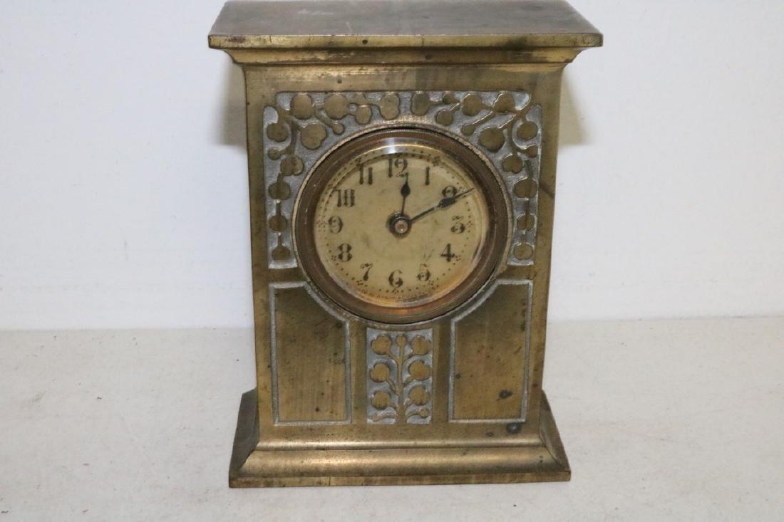Antique Ansonia Brass Case Clock