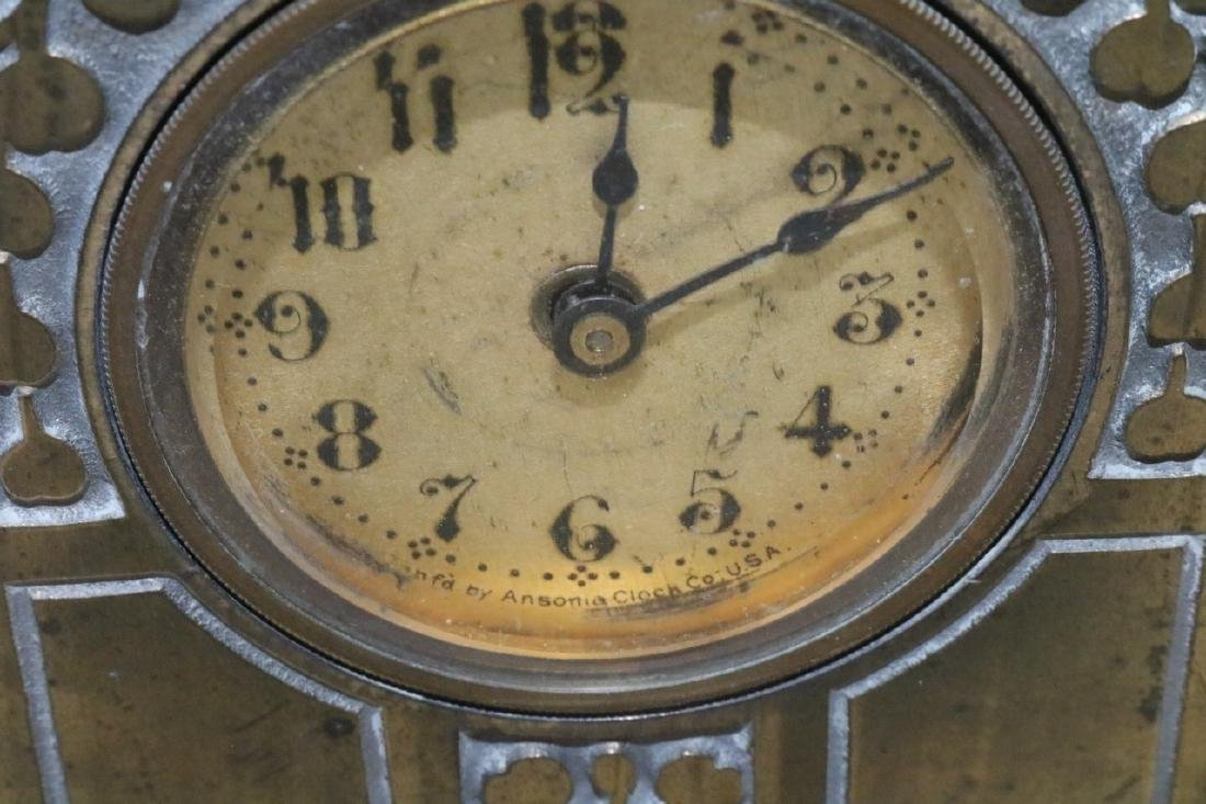 Antique Ansonia Brass Case Clock - 2