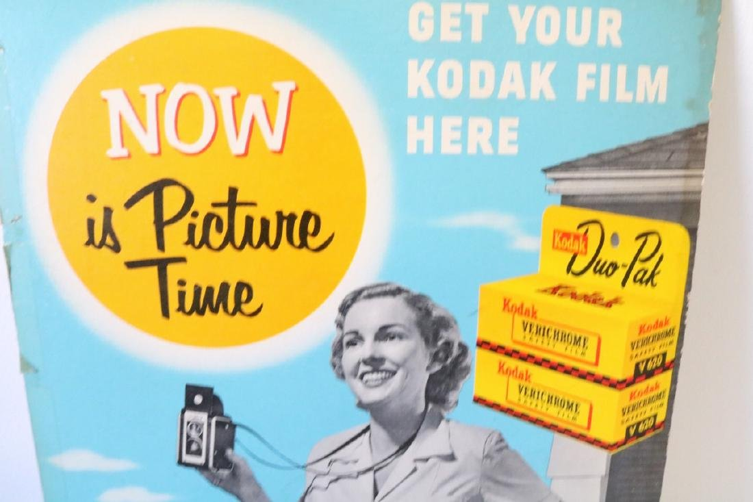 Kodak Advertising Sign 1950s - 2