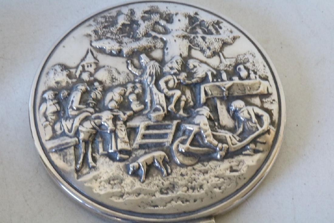 Denmark Repousse Silver 2 Brush & Mirror - 4