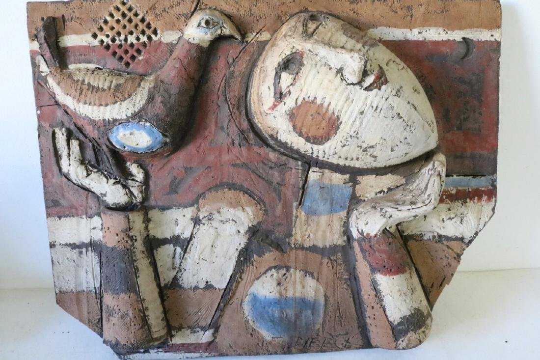 Clay Art/ Ceramic Relief Sculpture By Kenneth Dierck,