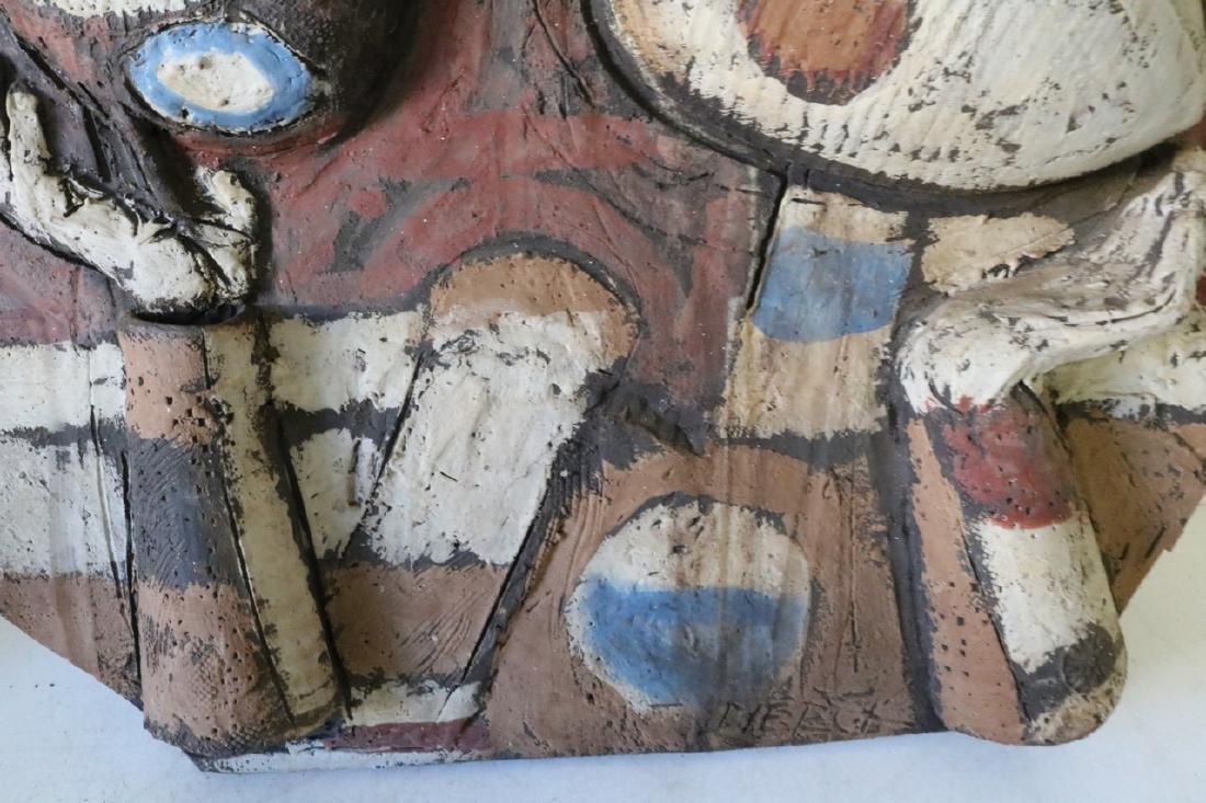 Clay Art/ Ceramic Relief Sculpture By Kenneth Dierck, - 3