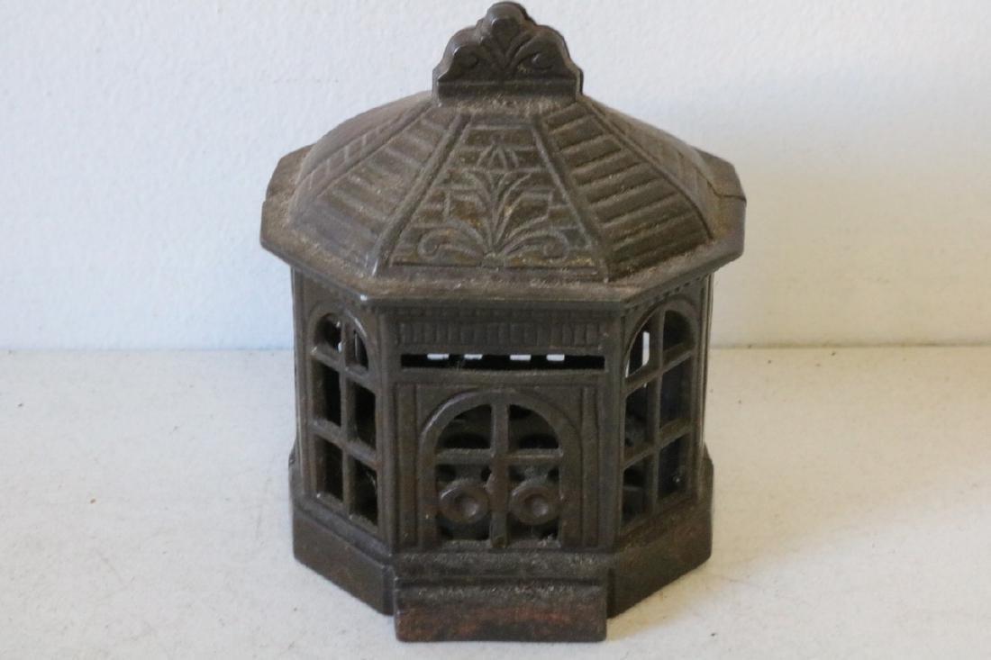 Antique Gazebo Cast Iron Bank