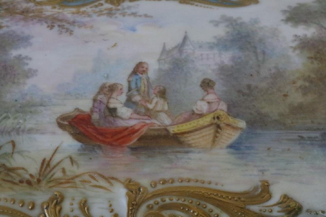 French Sevres porcelain hand painted Dresser Box - 6