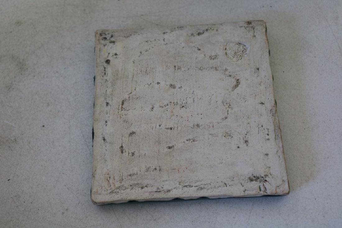 Antique Porcelian Tile, Relief, Woman Nude - 3