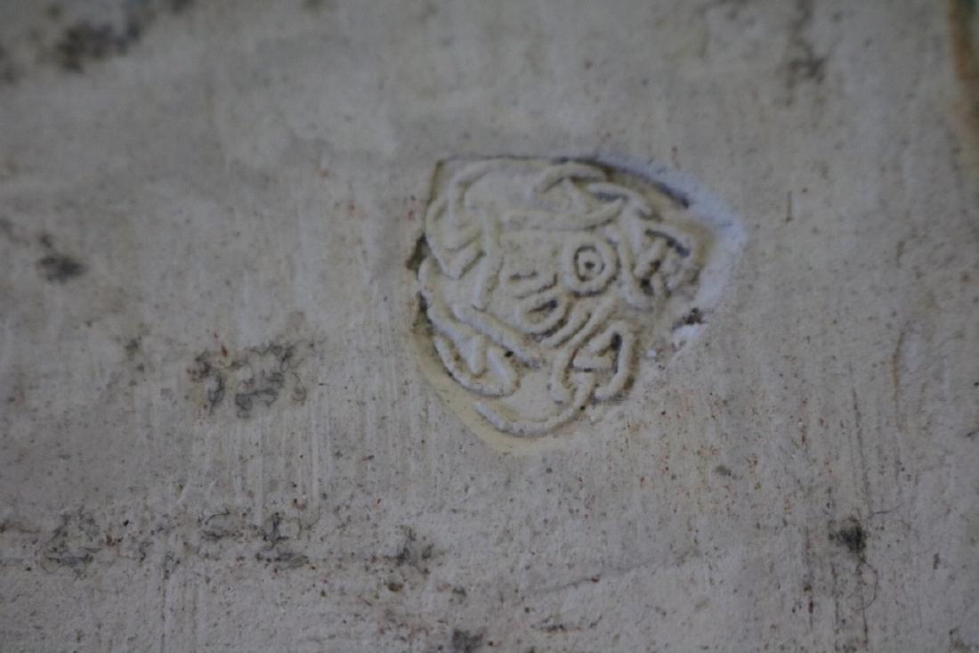 Antique Porcelian Tile, Relief, Woman Nude - 4