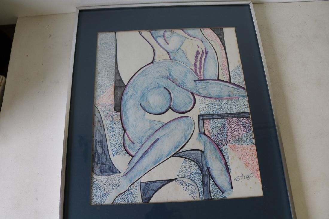 Mid Century Style Abstract Art