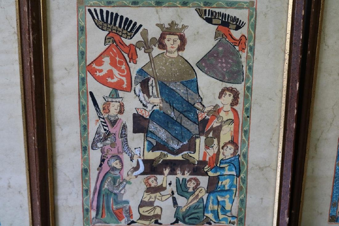 Lot of 6 Codex Manesse Illustrations - 3