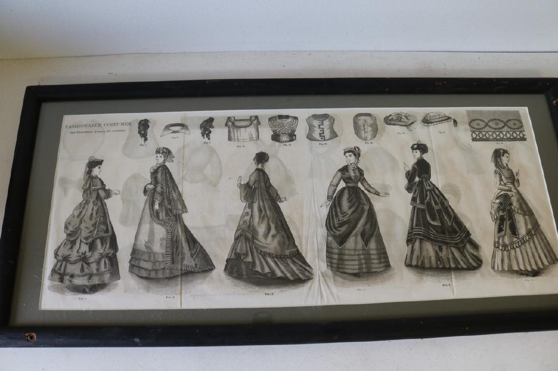 Antique Framed Early 1800s Costume Engraving