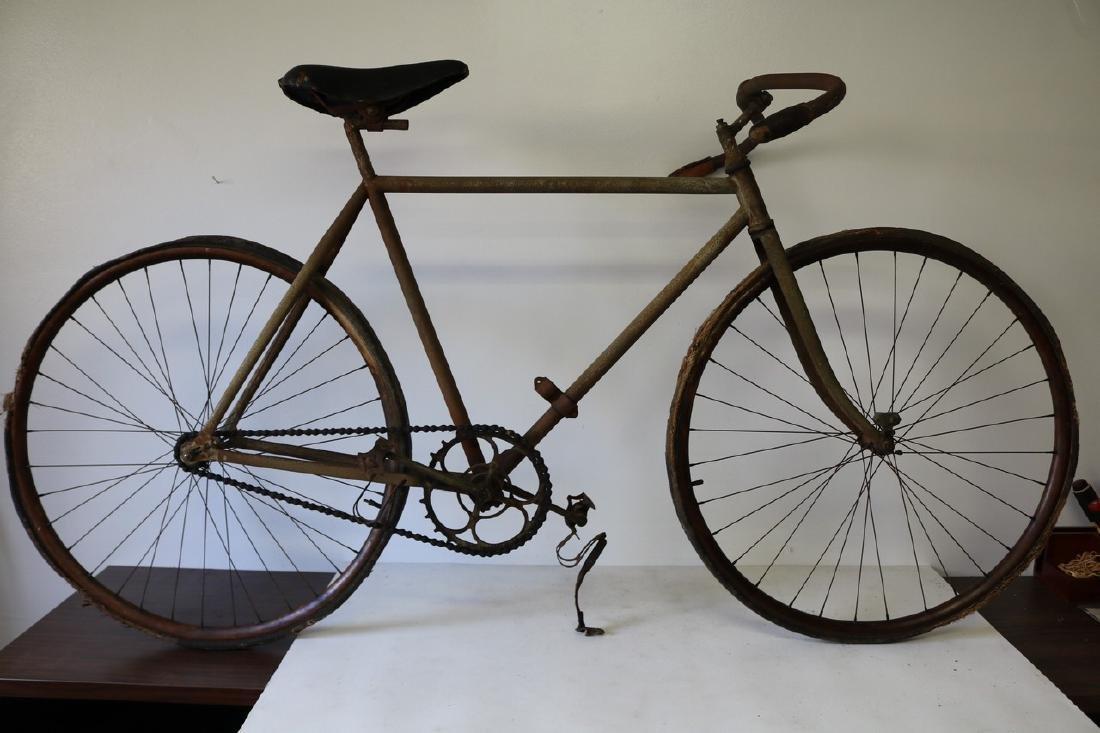 Antique Prewar Racing Bicycle circa 1890 Wood Rim