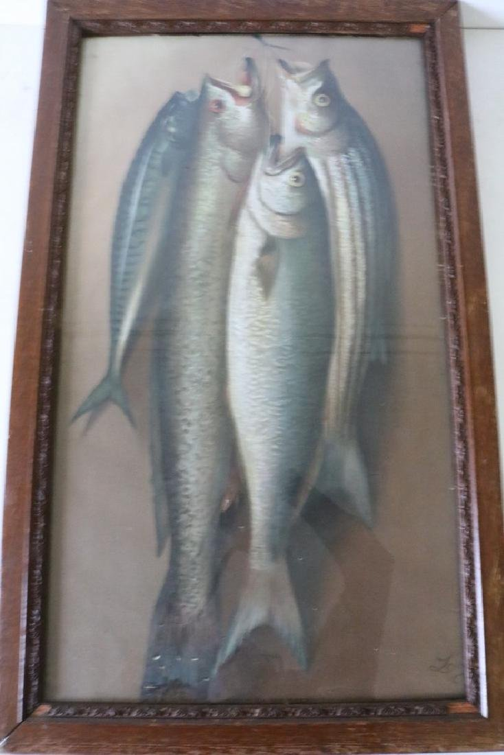"""Victorian Fish Lithograph """"Monarchs of the Deep"""""""