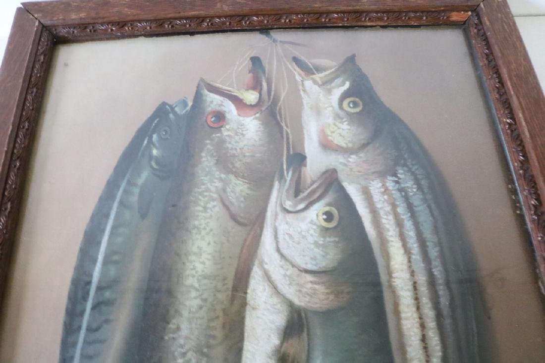 """Victorian Fish Lithograph """"Monarchs of the Deep"""" - 2"""