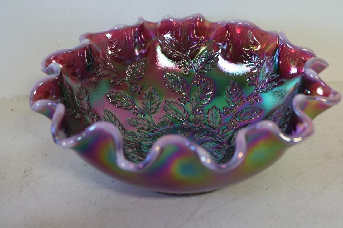 Fenton ruffled edge berry bowl with ruffled edge