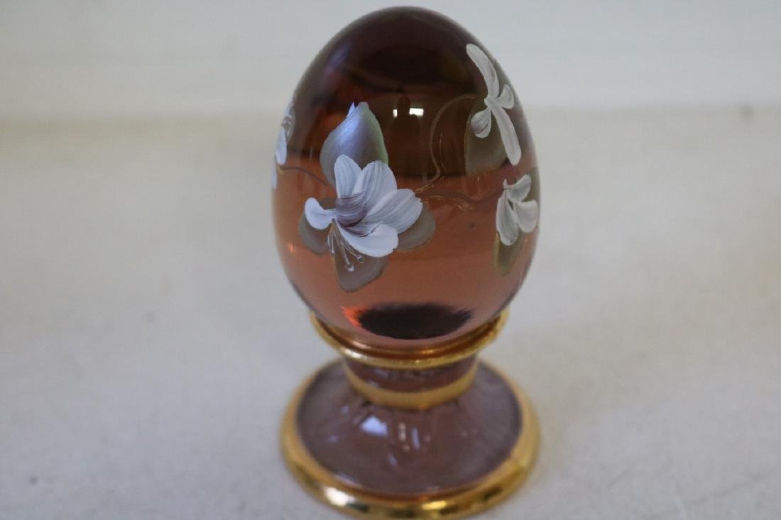 Fenton limited edition hand painted egg