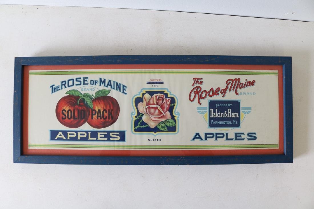 """Vintage """"The Rose of Maine Apples"""" Advertising"""