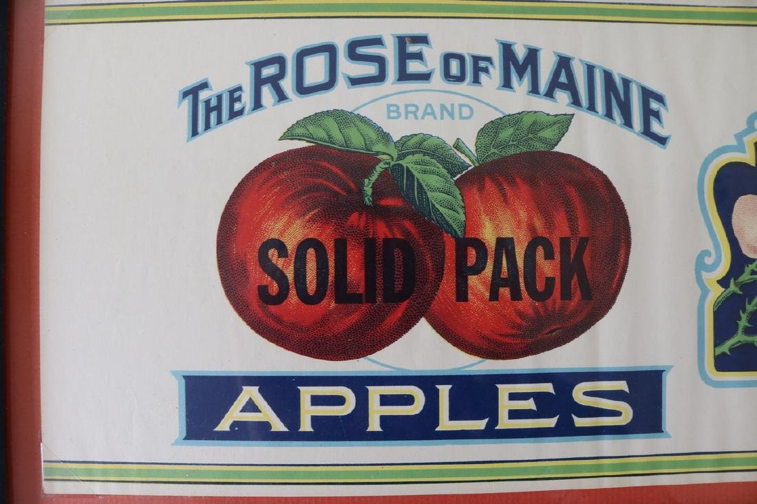 """Vintage """"The Rose of Maine Apples"""" Advertising - 2"""