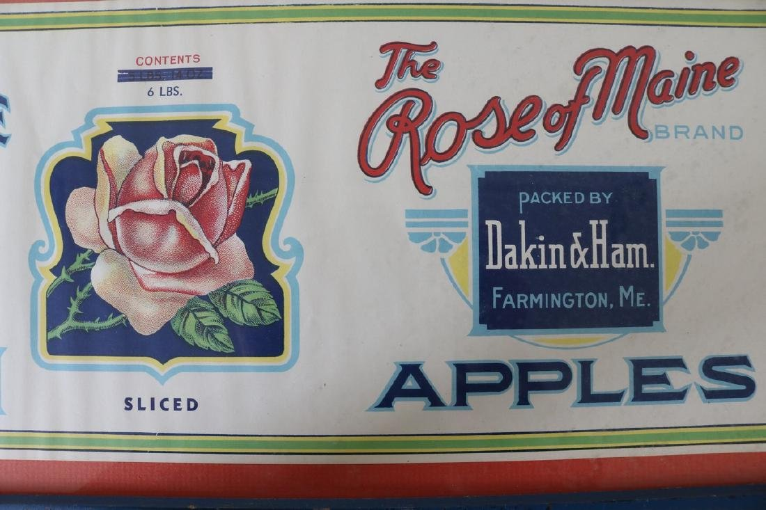 """Vintage """"The Rose of Maine Apples"""" Advertising - 3"""