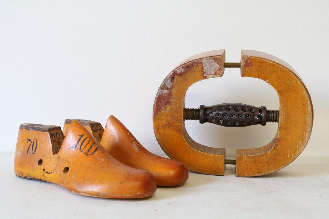 Antique Wood Hat and Shoe Stretchers