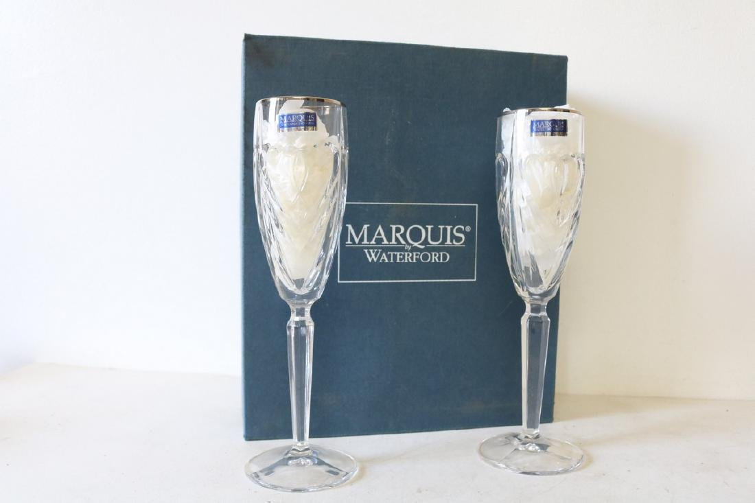 Marquis Waterford Champagne Double Heart Stemware