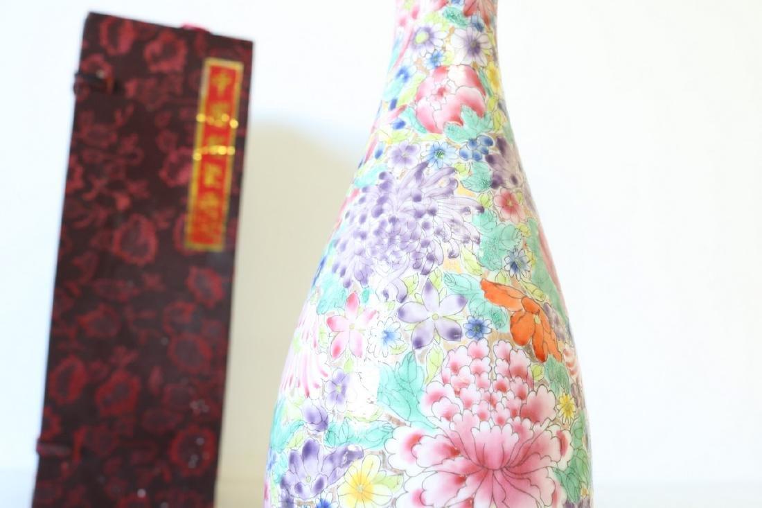 Eggshell Porcelain Handpainted Chinese Vase - 3