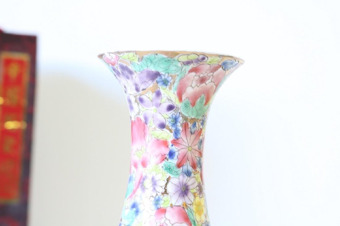 Eggshell Porcelain Handpainted Chinese Vase - 4