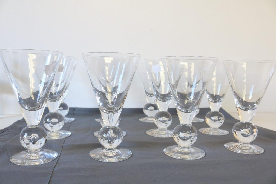 Lot of 12 Kosta Boda Avon Pattern Goblets