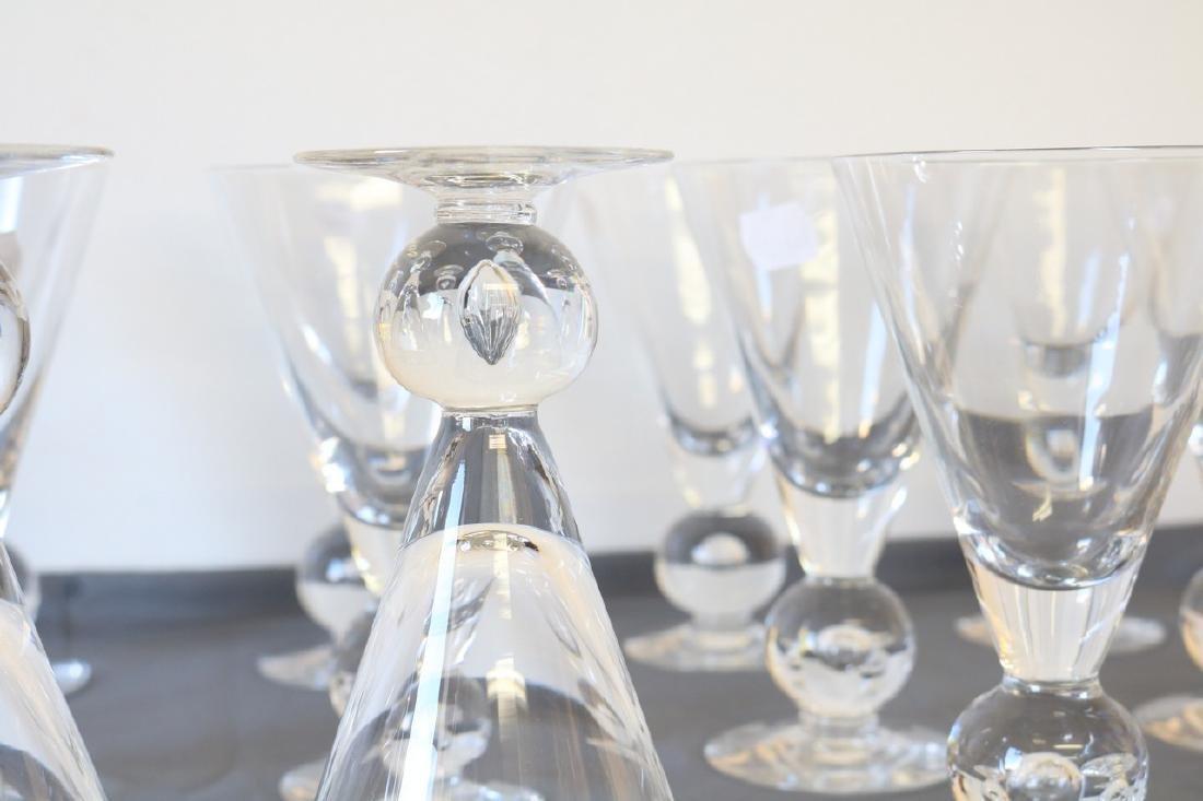 Lot of 12 Kosta Boda Avon Pattern Goblets - 3
