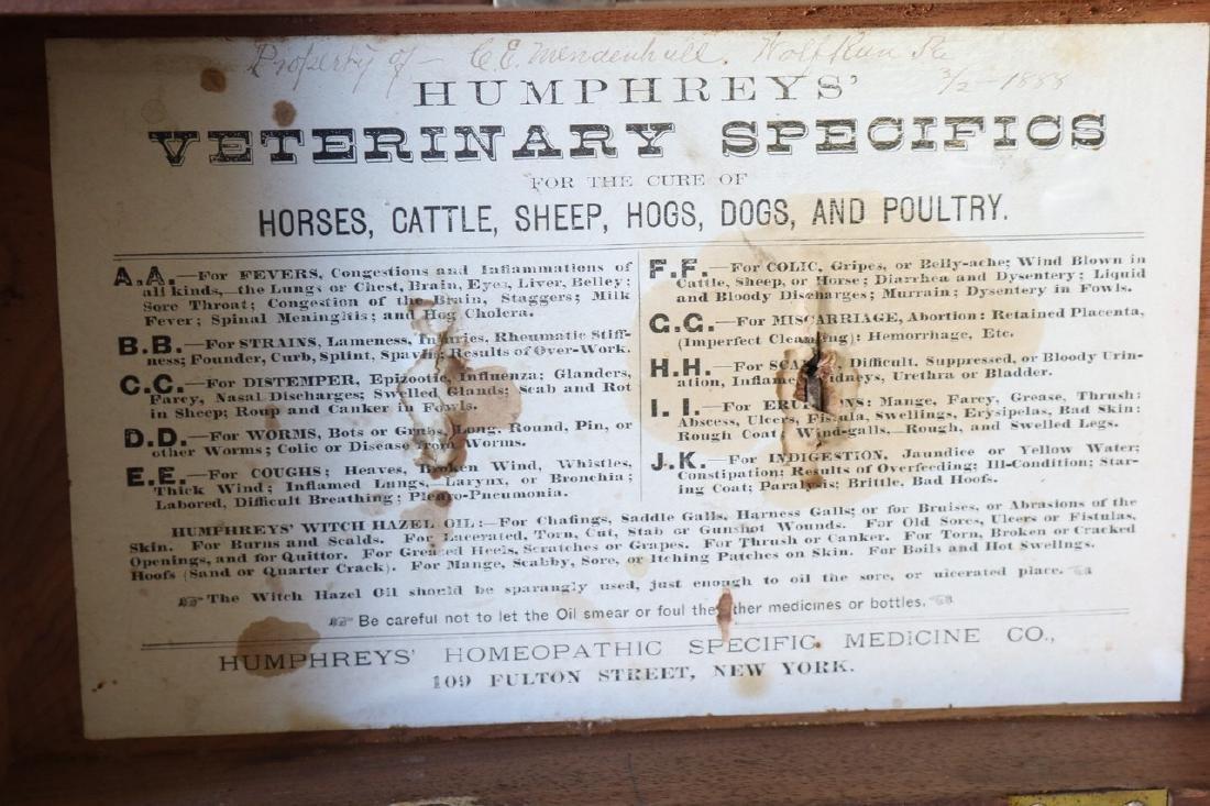1888 Wood Box - Humphrey's Veterinary Specifics - 6